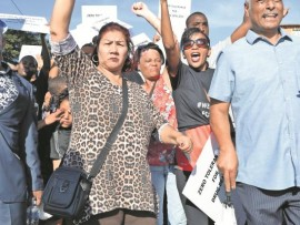 Community leaders join protest for peace