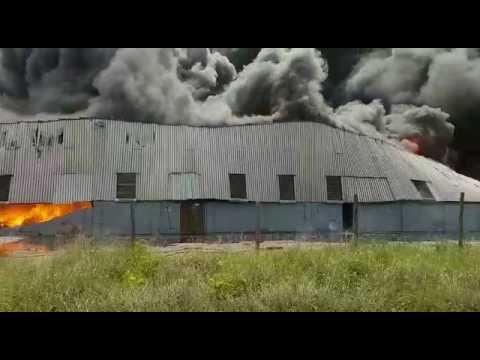 Firefighters battle massive fire in Rossburgh
