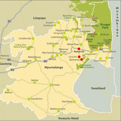 Barberton Times Map