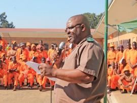 Harry Nkosi addressing offenders.