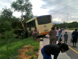 The bus that was involved in the incident.