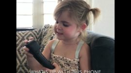 Funny disappointed toddler who didn't get an iPhone