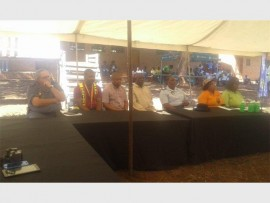 Officials from the Komatipoort Police Station, Tonga Cluster Policing,  department of Home Affairs, and Old Mutual.