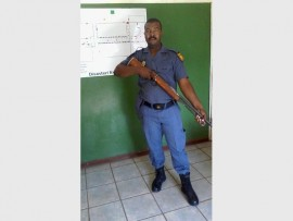 Const Mandla Ntimba with the unlicenced firearm.