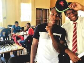 Justice Masinge and Muzi Matsheke at a chess tournament.