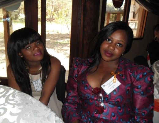 Tebogo Ledwaba and Jeanette Chirwa were among the beautifully dressed guests at the function.