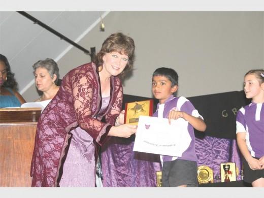 Ulandi Dique with Arjun Sopanam, who won several awards.