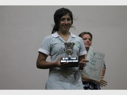 Aliza Raja won the Debbie Palmer Trophy for Perseverance.