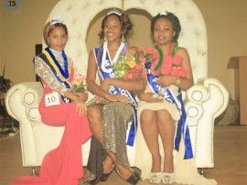 First princess Sphesihle Mlonga, Miss Nkomazi 2016 Nokubonga Nkosi and second princess Nolwazi Tshabalala.