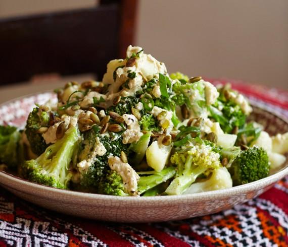 Amanda A-mangia: Cauliflower & broccoli with lemon-garlic dressing ...