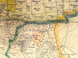 Early farm divisions around the vicinity of the current-day Hazyview