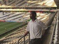Duncan Malope enjoys watching the Black Aces.