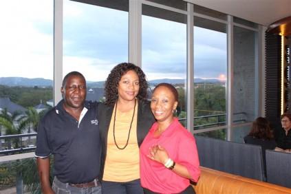 Mnr Benjamin Bhembe, Presh Sibiya  en Me Nono Malakoane.