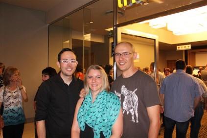 Mnr. Nicholis Els, Me. Carryn-Leigh Lombard en Mnr Stefan Lombard.
