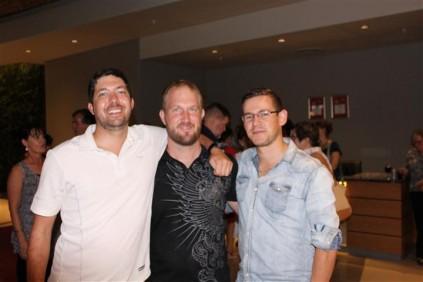 Mnr. Riaan Geldenhuys, mnr. Corné Oosthuizen en mnr. Armin van der Walt.