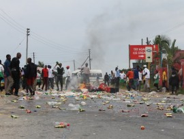 Shots were allegedly fired at people who looted foreigners' shops in Pienaar in 2014.