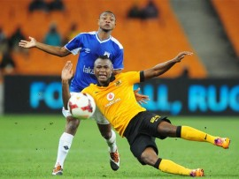 Tsepo Masilela of Kaizer Chiefs battles with Ofentse Nato of Black Aces during the Absa Premiership 2013/14 match between Kaizer Chiefs and Black Aces at FNB Stadium in Johannesburg on the 09 April 2014 ©Muzi Ntombela/BackpagePix