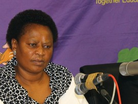 MEC for education, Ms Reginah Mhaule.