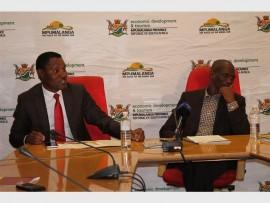 The new chairman of the Mpumalanga Tourism Agency Board, Mr Thulani Nzima and MEC Eric Kholwane.