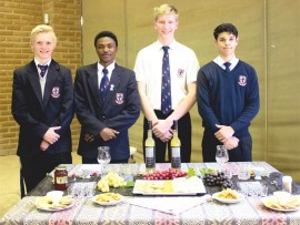 Tai Kimber, Philani Mdhluli, Matthew Bezuidenhout and Fabio Da Corte.