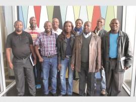 Front: Jerome Motha, Isaac Mthethwa, Nyiko Khoza, Nketseng Magalifa, Elly Mokoena, (back) John Mthethwa, Tjitrabuke Mnisi, Good Enough Mashego and December Ndlovu.