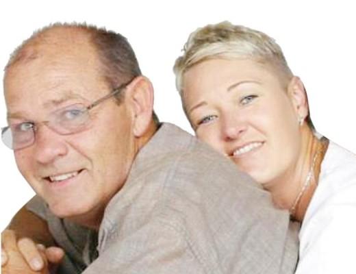 Koos and his wife, Lee Kruger.