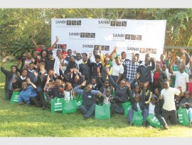 Staff members from RISE FM, Pep, the Lowveld National Botanical Garden and those who received the gifts.