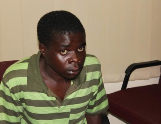 Frans Mokoena's lip was bitten by one of his rape victims.