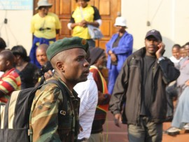 Mr Mandla Mamba is one of those accused of committing robbery and malicious damage to property.
