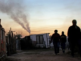 Household emissions from low income households are causing serious air pollution problems. Photograph: Nicolene Olckers