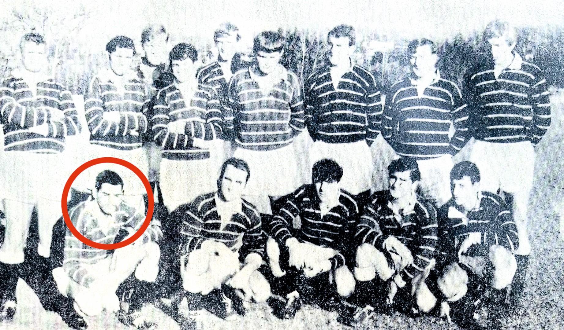 Nelspruit Rugbyklub se tweede span in 1970. Wynand Breytenbach word hier aangedui.