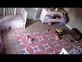 Video: Two year old miraculously saves twin brother