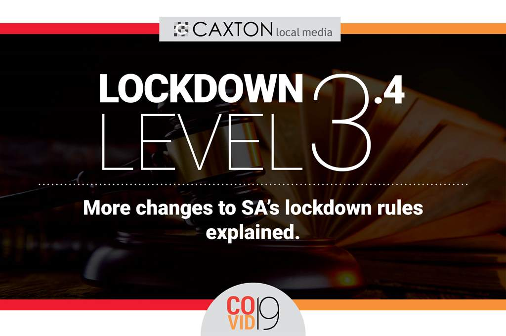 Lockdown level 3.4: How regulation changes affect you ...