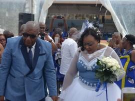 MEC Vusi Shongwe and his wife.