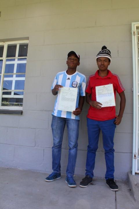 Sanele Lubisi and Mthokozeleni Sithole passed with flying colours.