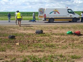 The scene where six people where killed yesterday on the N4.