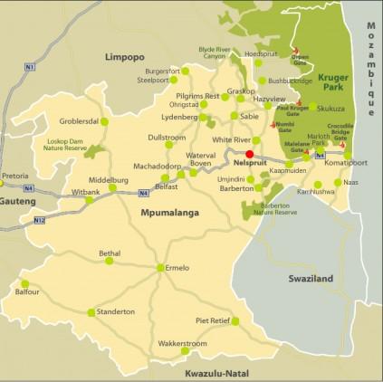 Nelspruit Post Map
