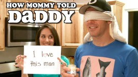 Wife reveals to her husband that she is pregnant during a blind taste challenge