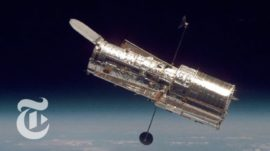 Hubble Space Telescope Reflects the Cosmos