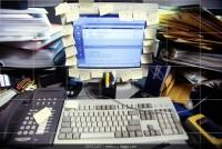 messy desk (Medium)
