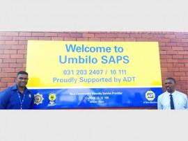 ADT Security's Dan Maharaj and Lt Col Dlamini from Umbilo SAPS.