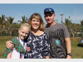 Kaylee, Heather and Craig Walker.