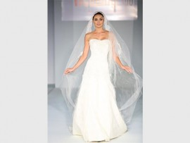 See some beautiful wedding gowns on show at the fashion show at the Wedding Expo.