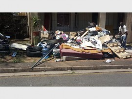 Resident, Mario George, complained about this illegal dumping on the pavement outside the house in McDonald Avenue on Saturday.
