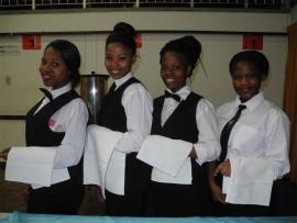 Siphesihle Ntombela, Onkarabile Kgomo, Lerato Mohlakoana and Pretty Nogula.