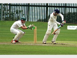 Turlock Davies plays another solid defence stroke. PHOTO: Joshua Rathbone