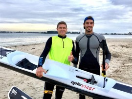 Hank McGregor and Victor Doux in France. PHOTO: Epic Kayaks and Surfskis France