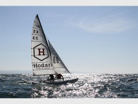 Hobie heroes, Garth Loudon from Mount Edgecombe and Robbie Edouard-Betsy are seen competing in the recent Hobie 16 and Flying Fifteen Provincials hosted by Point yacht Club offshore of Durban. Photo: Sophie Thompson