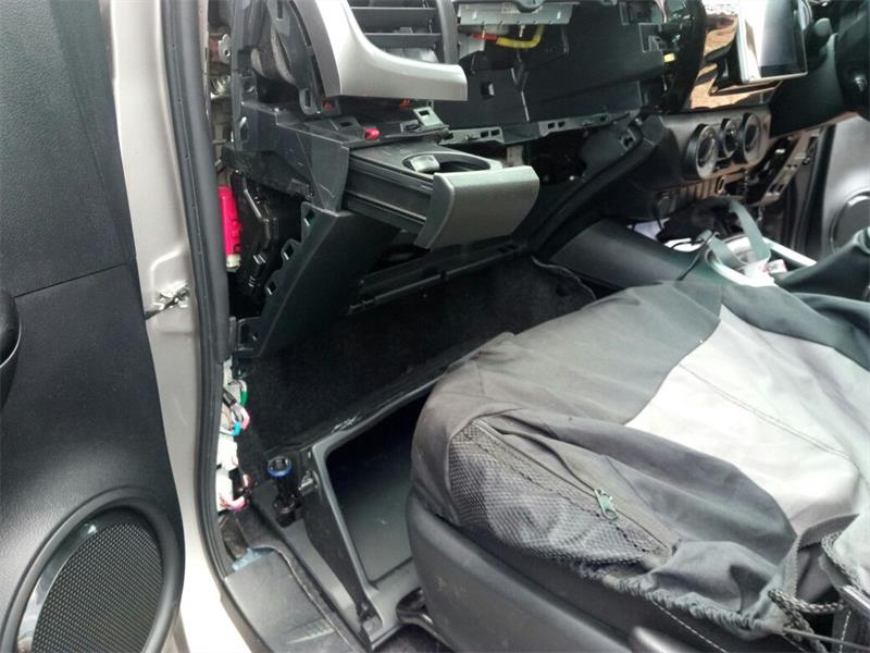 The inside of the recovered vehicle.