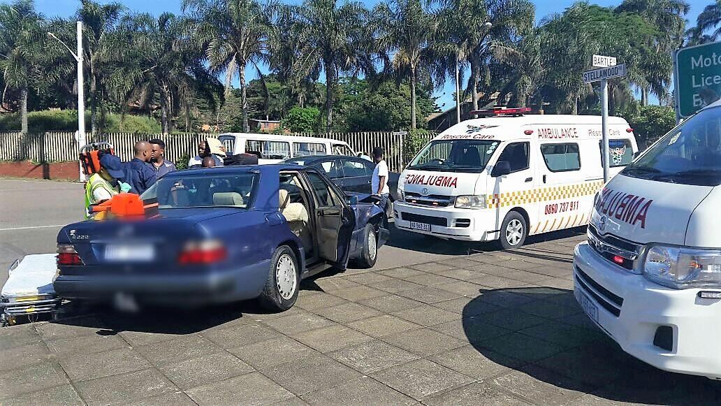 The scene of the accident in Umbilo today.